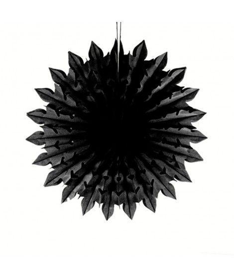 Colgante Decorativo Papel Kraft Negro