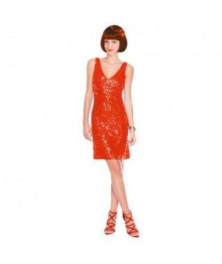 Vestido Rojo de Lentejuela Fiesta y Bailes