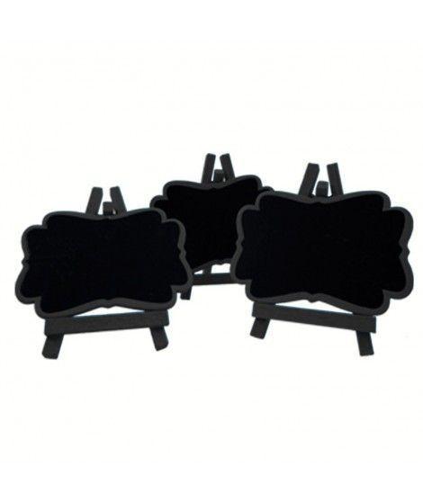 Pizarritas Decorativas Negras (3 uds)