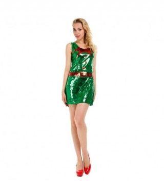 Vestido Lentejuelas Elfa para Navidad