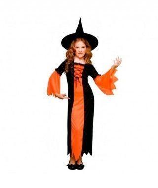 Disfraz Brujita Naranja niña