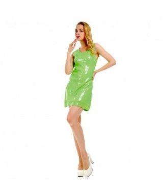 Vestido Verde Lentejuelas Fiesta y Bailes