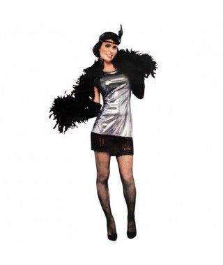 Disfraz Charlestón Metalizado Mujer