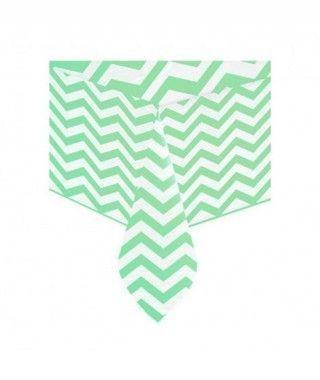 Mantel Verde Plástico Rayas Zig-Zag