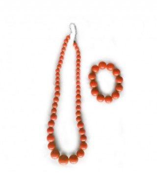 Collar y Pulsera Sevillanas Naranja