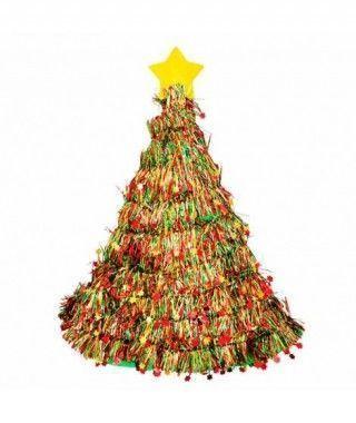 Gorro de Árbol de Navidad Espumillón Accesorio