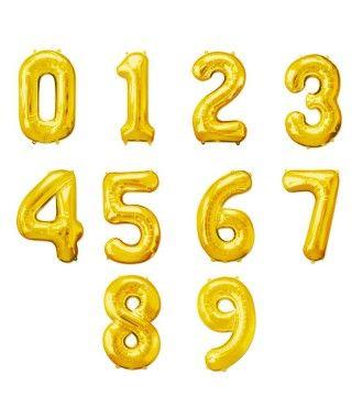 Globos de Números Dorados (+ tamaños)