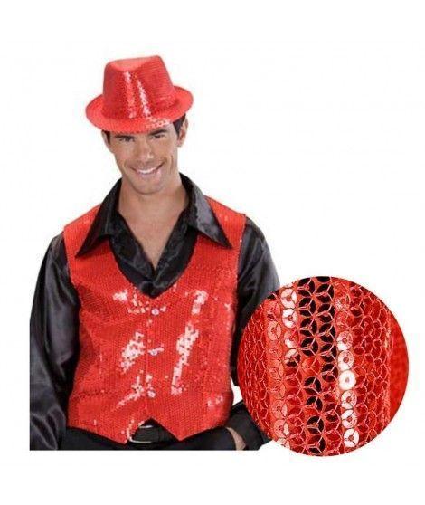 Chaleco Rojo Lentejuelas Adulto fiestas y bailes