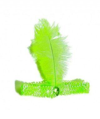 Cinta Pluma Charleston Verde Claro