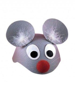 Gorro Ratón Gris Casco
