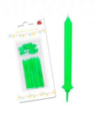 Velas Cumpleaños Verde Lima Grandes