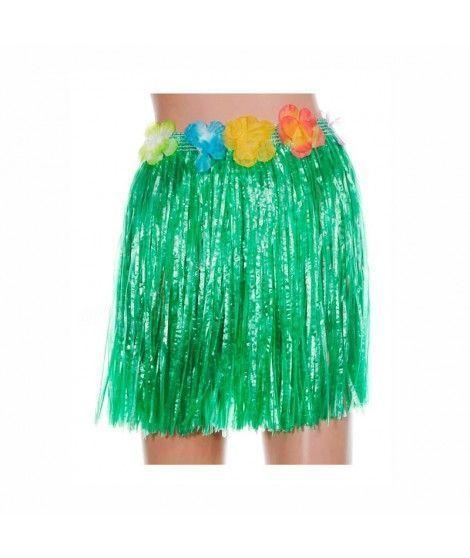 Falda Hawaiana Infantil Hula Verde (40 cm)