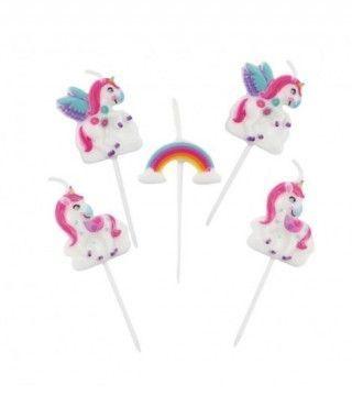 Velas Cumpleaños Unicornios