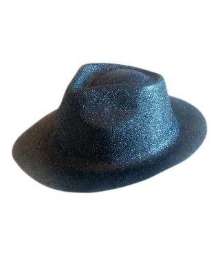 Sombrero Cowboy Negro Purpurina