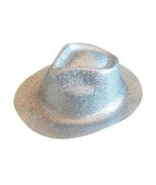Sombrero Cowboy Plata Purpurina