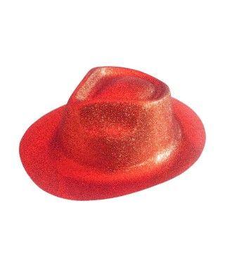 Sombrero Cowboy Rojo Purpurina