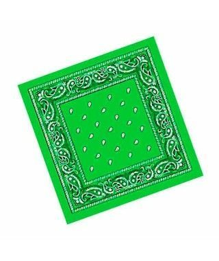 Pañuelo Bandana Vaquero o Rapero Paisley Verde Claro