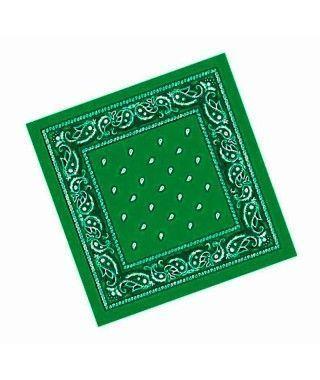 Pañuelo Bandana Vaquero o Rapero Paisley Verde Oscuro