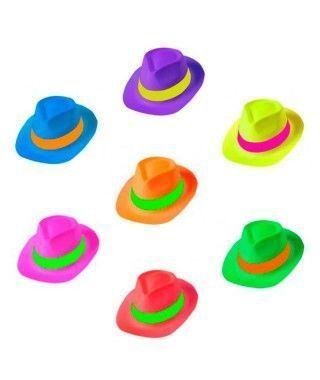 Sombrero Gangster PVC Neón