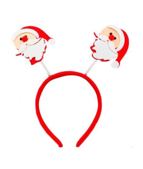 Diadema Navidad Papá Noel fieltro
