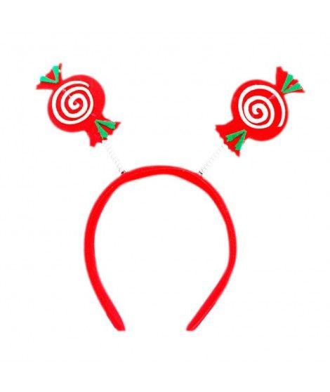 Diadema Navidad Caramelos fieltro