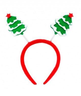 Diadema Navidad Árbol nevado fieltro