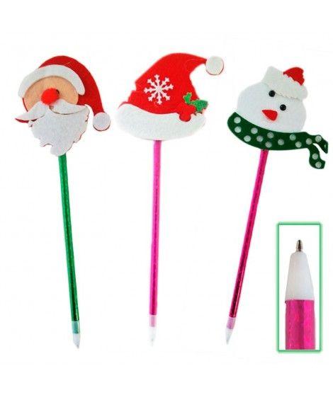 Bolígrafo Muñecos Navidad Fieltro
