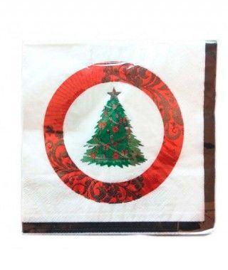 Servilletas de papel de Árbol de Navidad 16x16cm (20uds)