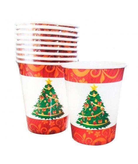 Vaso de Papel 200 ml Árbol de Navidad (10 unidades)