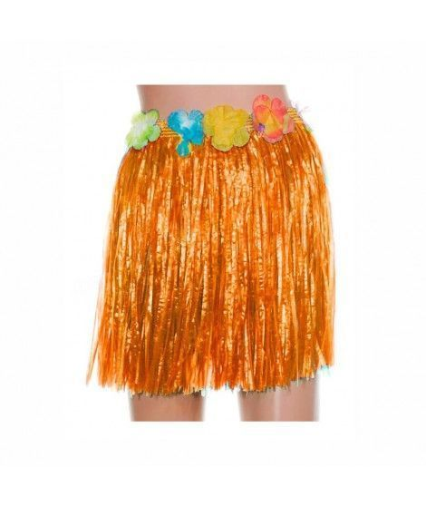 Falda Hawaiana Infantil Hula Naranja (40 cm)
