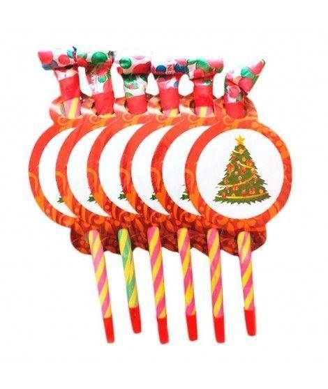 Matasuegras Largos Árbol de Navidad (6 uds)