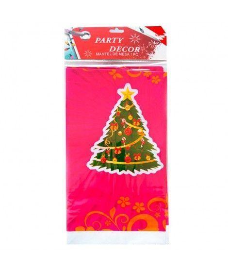 Mantel de plástico Árbol de Navidad 180*108cm Decoración Mesa