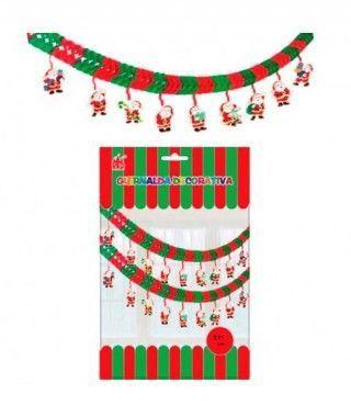 Guirnalda Papá Noel Decoración Navidad
