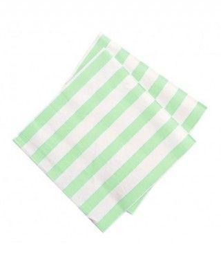 Servilletas Verdes Rayas Blancas (20 uds)