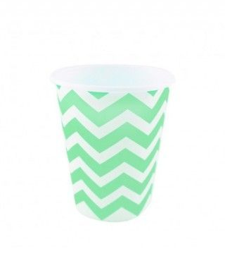 Vaso de Papel Verde Zigzag 200 ml (10 uds)