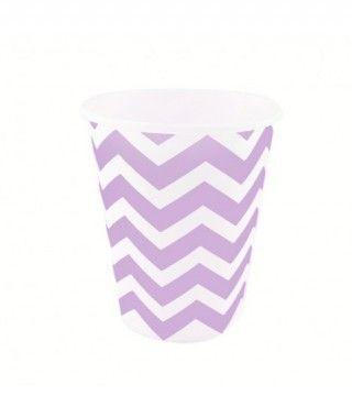 Vaso de Papel Morado Zigzag 200 ml (10 uds)