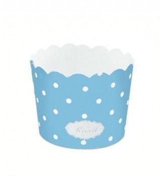 Cápsulas Cupcake Azul Lunares (25 uds)