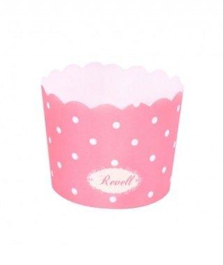 Cápsulas Cupcake Rosa Lunares (25 uds)