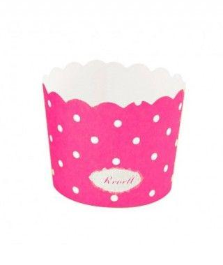 Cápsulas Cupcake Fucsia Lunares (25 uds)
