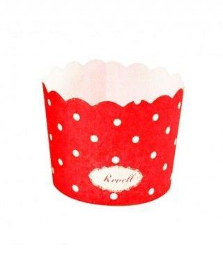 Cápsulas Cupcake Rojo Lunares (25 uds)