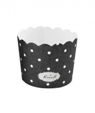Cápsulas Cupcake Negro Lunares (25 uds)