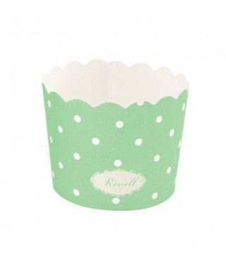 Cápsulas Cupcake Verde Lunares (25 uds)