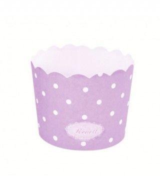Cápsulas Cupcake Morado Lunares (25 uds)