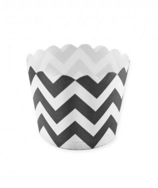 Cápsulas Cupcake Negro Zigzag (12 uds)