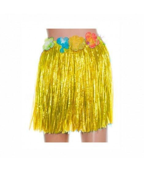 Falda Hawaiana Infantil Hula Amarilla (40 cm)