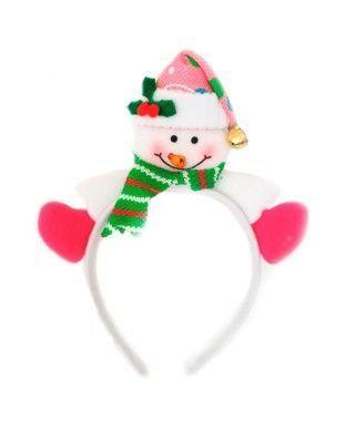 Diadema Navidad Muñeco Nieve