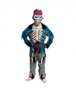 Disfraz Pirata Muerto Azul para Niño