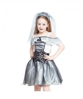 Disfraz Novia Cadáver Spiderweb para Niña