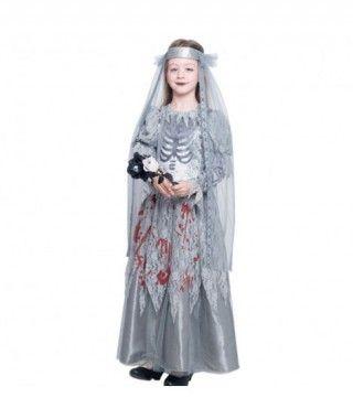 Disfraz Novia Cadáver Sangrienta para Niña