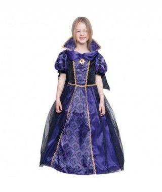 Disfraz Vampiresa Lila Medallón para Niña